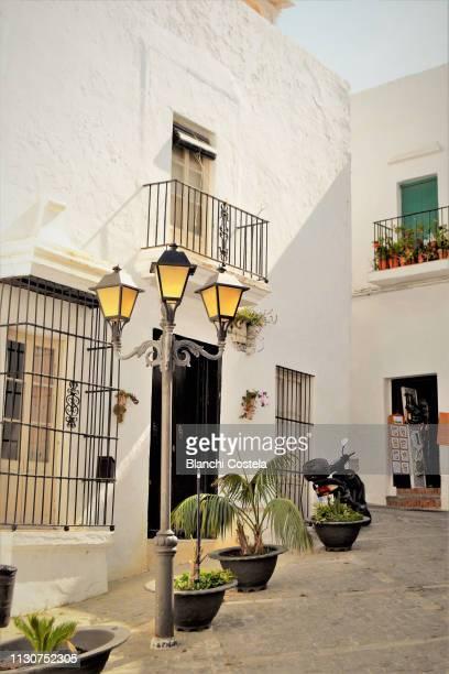 View of a typical street in Vejer de La Frontera in Cadiz