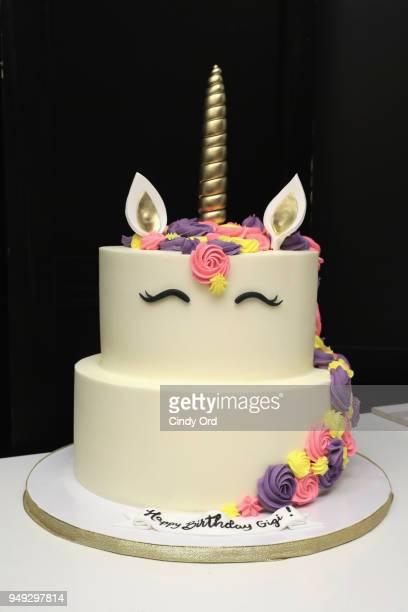 A View Of Unicorn Birthday Cake For Gigi Gorgeous During The Paris Hilton X Beautycon
