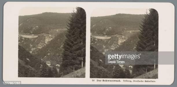 View of a valley near Triberg Der Schwarzwald. Triberg, Dreifache Bahnlinie , dale, valley, Neue Photographische Gesellschaft, Baden-Württemberg, c....