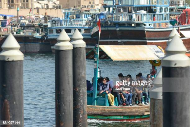 A view of a waterbus in Dubai Old Town On Monday 6 February in Dubai UAE