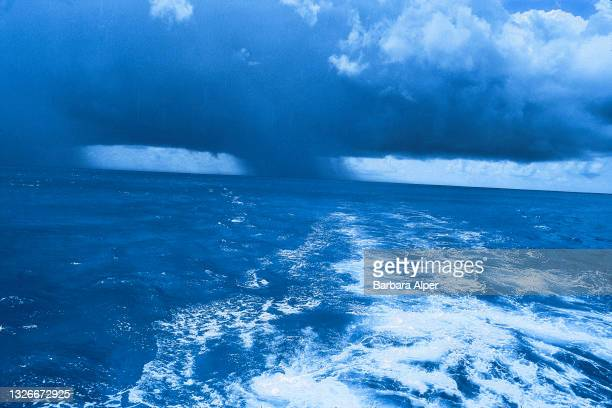 View of a waterspout over the ocean, Bimini, Bahamas, July 8, 1998.