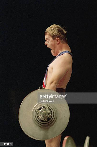 A view of a weightlifter taken during the 1995 Special Olympic World Games on July 51995 in New Haven Connecticut
