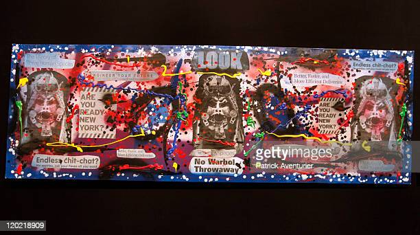 View of a work of art by artist Rammellzee on display at The Birth of Pressionism exhibition on August 1 2011 in Monaco This major exhibit at the...