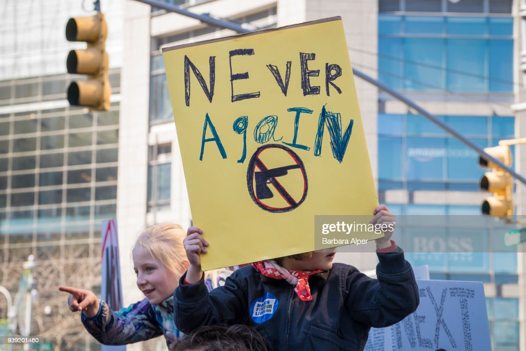 Young Demonstrators At March For Our Lives Rally : ニュース写真