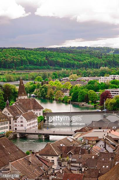View of Aare River in Solothurn