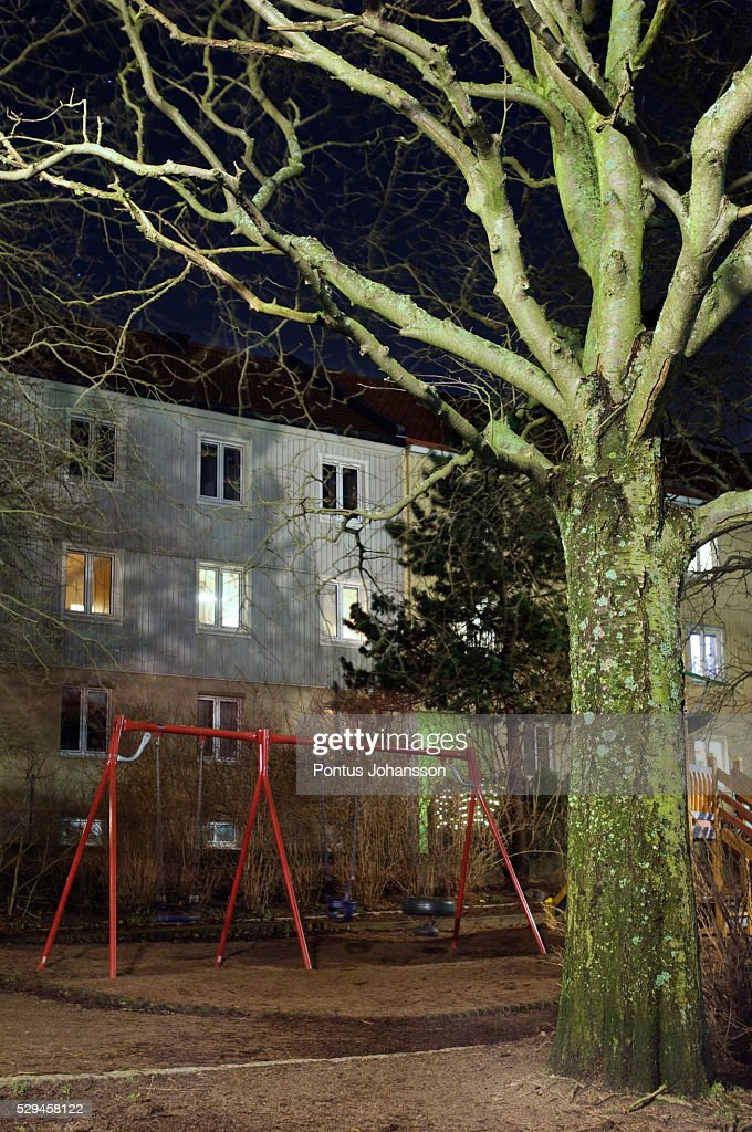 View Of Abandoned Playground At Night High Res Stock Photo Getty Images