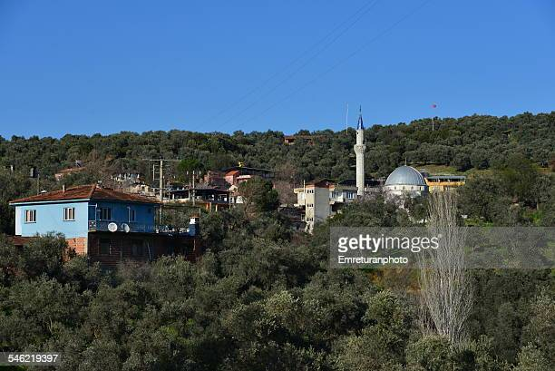 view of abdurrahmanlar village - emreturanphoto stock-fotos und bilder