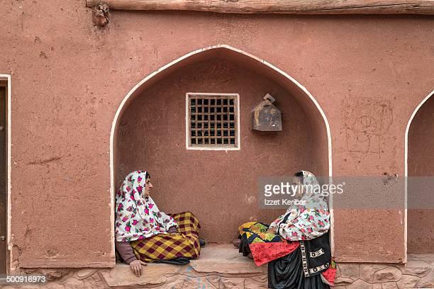 view of abyaneh, old zoroastrian town,iran - isfahan stock-fotos und bilder