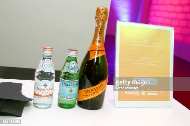 A view of Acqua Panina San Pellegrino and Mionetto Prosecco all served during Street Eats hosted by Ghetto Gastro at Industria on October 14 2017 in...