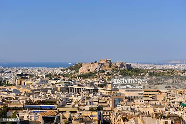 View of Acropolis and Parthenon