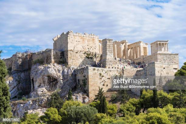 View of Acropolis Archeological Site from Areopagus Hill