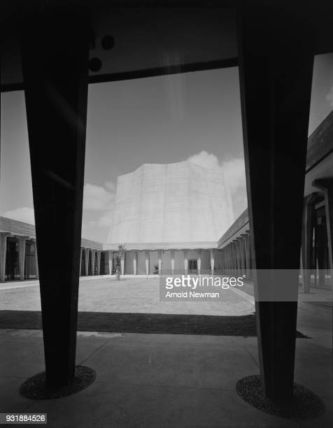 View of across the interior courtyard of the Soreq Nuclear Research Center near Yavne Isreal July 15 1961