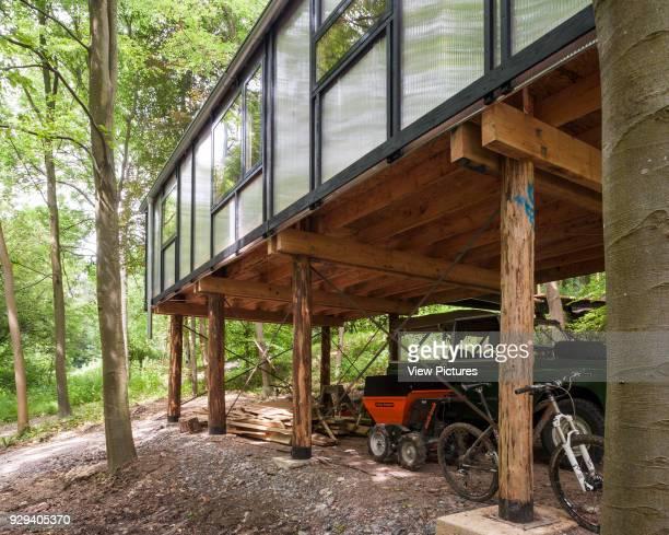 View of active working area under studio Visible Studio Bath United Kingdom Architect Invisible Studio 2014