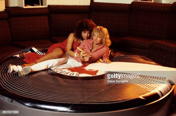 View of actress Dianne Steinberg and musician Peter Frampton in a scene from the film 'Sgt Pepper's Lonely Hearts Club Band' Los Angeles California...