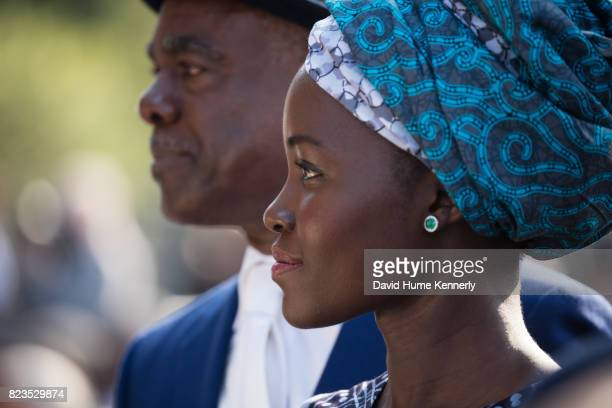 View of actress Lupita Nyong'o at the opening of the National Museum of African American History and Culture Washington DC September 24 2016