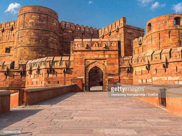 view of agra fort - agra fort stock pictures, royalty-free photos & images