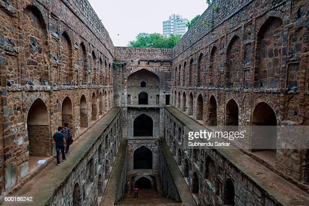 View of Agrasen ki Baoli in New Delhi.