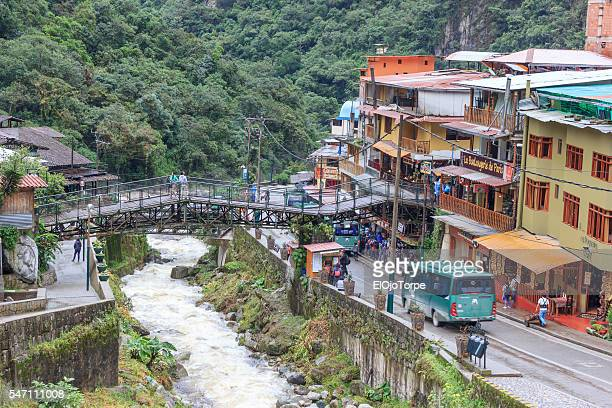 View of Aguas Calientes city, near Machu Picchu, Peru.