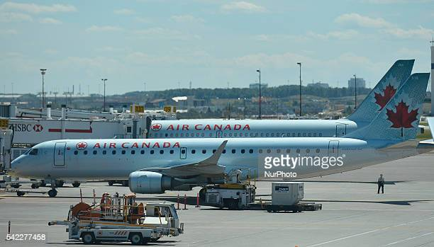 A view of Air Canada planes at Toronto Pearson International Airport On Wednesday 22 June 2016 in Toronto Canada