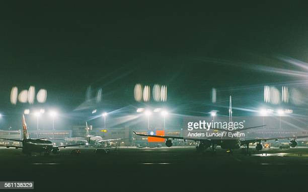 View Of Airplanes At Airport