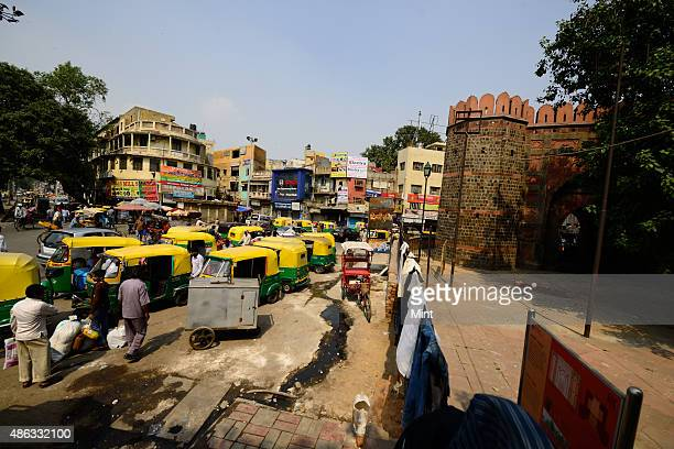 View of Ajmeri Gate at Old Delhi on October 3 2014 in New Delhi India