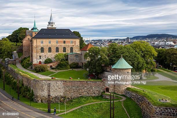 View of Akershus Castle and Fortress (Akershus Slott), Oslo, Ostlandet, Norway