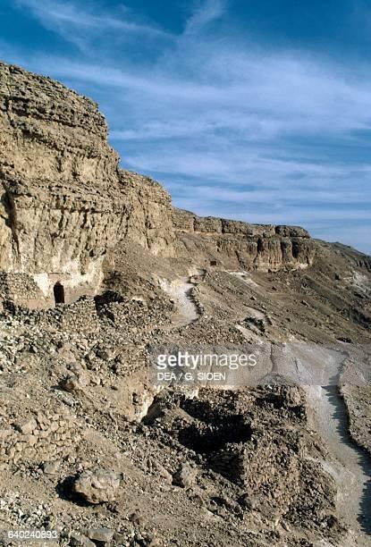 View of Akhenaten's Royal necropolis Tell elAmarna Egypt Egyptian Civilisation New Kingdom Dynasty XVIII