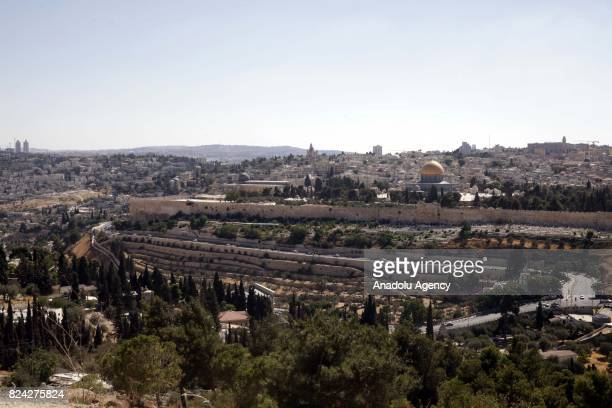 A view of AlAqsa Mosque Compound as Palestinians enter the Al Aqsa after all the gates of the Mosque were opened to Muslim worshippers in Jerusalem...