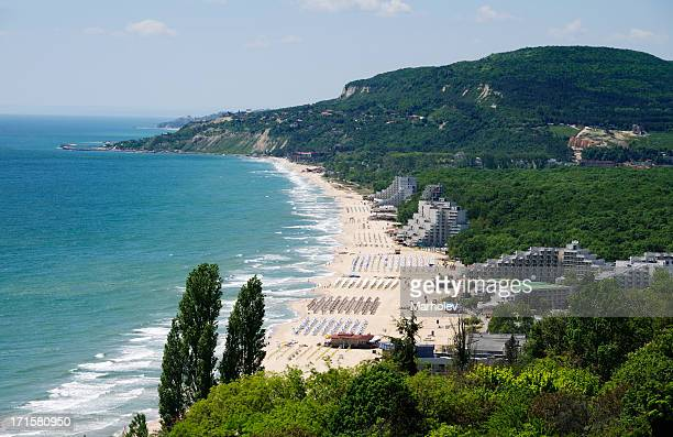 View of Albena resort near Varna, Bulgaria