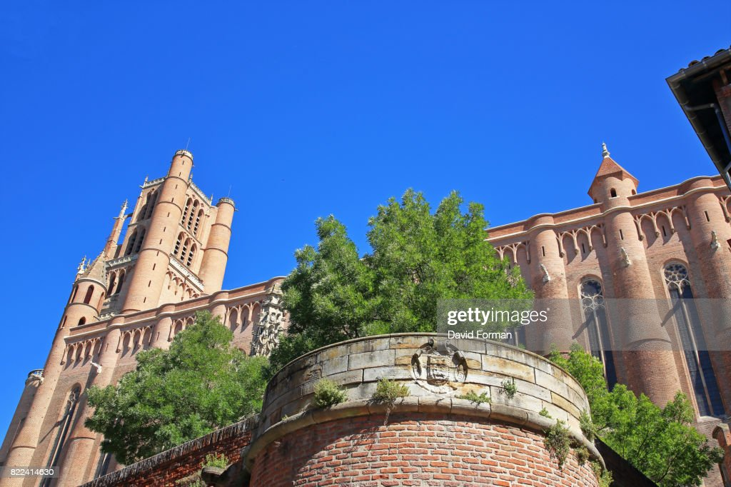 View of Albi Cathedral from South, Tarn, France. : Stock Photo
