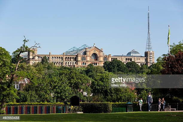 A view of Alexandra Palace from Priory Park on May 21 2014 in London England Alexandra Palace situated in the London Borough of Haringey First opened...