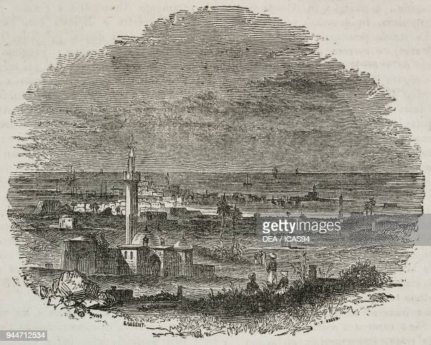 View of Alexandria Egypt illustration from Teatro universale Raccolta enciclopedica e scenografica No 371 August 14 1841