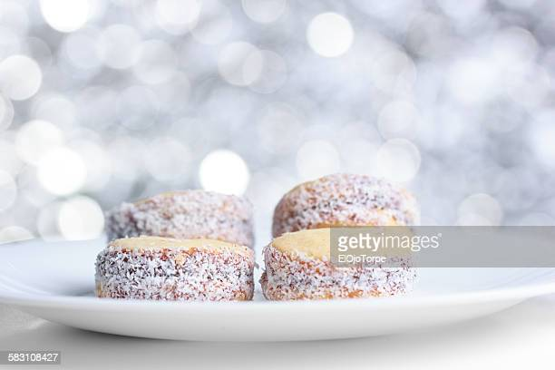 View of 'alfajores' with dulce de leche