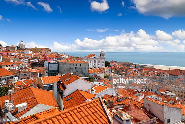 View of Alfama From Miradouro de Santa Luzia, Lisbon, Portugal