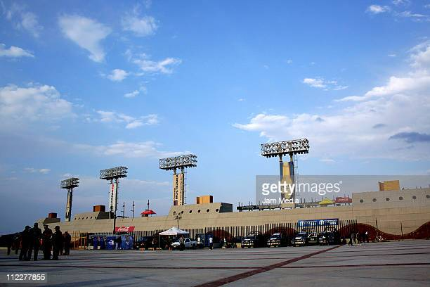 View of Alfonso Lastras Stadium during a match as part of the Clausura Tournament 2011 at Alfonso Lastras Stadium on April 16 2011 in San Luis Potosi...