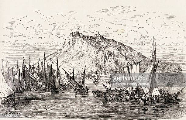 A View Of Alicante Spain In The 19Th Century From El Mundo En La Mano Published 1878