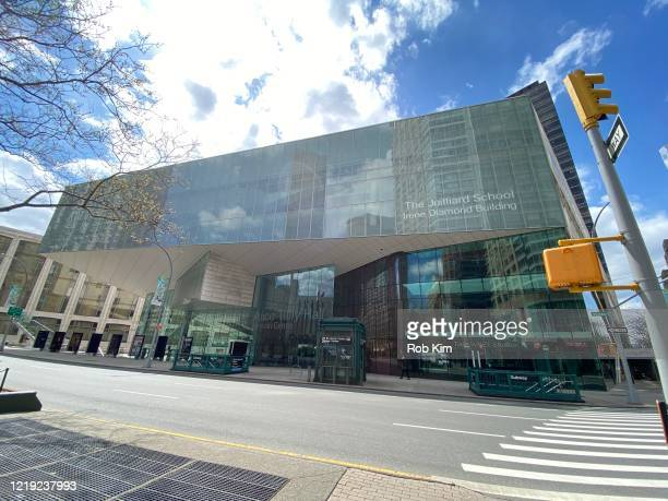 A view of Alice Tully Hall during the coronavirus pandemic on April 16 2020 in New York City ShelterinPlace and social distancing continues across...