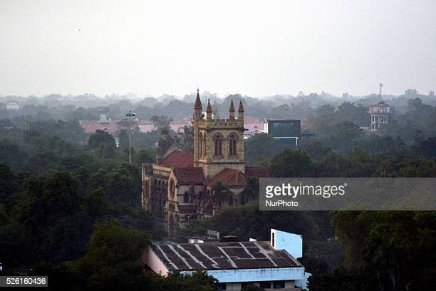 A view of All saints cathedral church Allahabad on December 122015Of the worlds top 20 polluted cities 13 are in India compared to just three in...