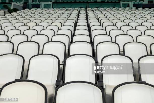View of Allianz Stadium during the Ferencvaros TC training on the eve of the UEFA Champions League football match between Juventus FC and Ferencvaros...