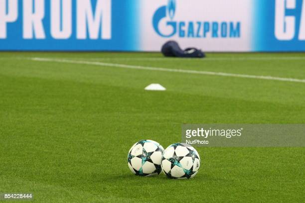 A view of Allianz Stadium during the training of Olympiakos FC on the eve of the UEFA Champions League match between Juventus FC and Olympiakos FC at...