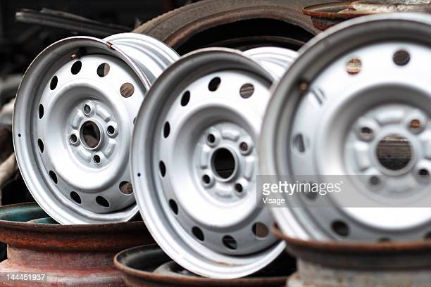 View of alloy wheels