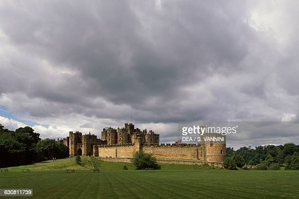 View of Alnwick Castle Northumberland England United Kingdom 11th century