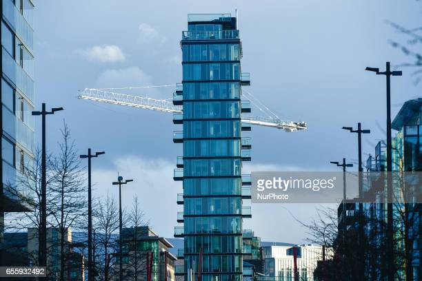 A view of Alto Vetro building in Grand Canal Dock area in Dublin On Monday March 20 in Dublin Ireland