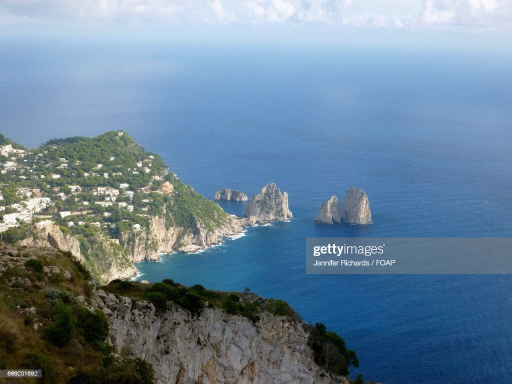 View of Amalfi coast in Capri, Italy : Stock Photo