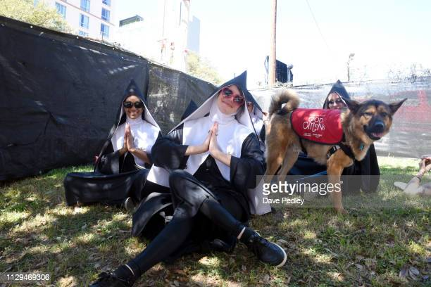 View of Amazon Prime Video's 'Good Omens Garden of Earthly Delights' activation during the 2019 SXSW Conference and Festivals on March 8 2019 in...