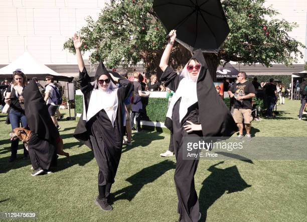 View of Amazon Prime Video's 'Good Omens Garden of Earthly Delights' activation during the 2019 SXSW Conference and Festivals on March 9 2019 in...
