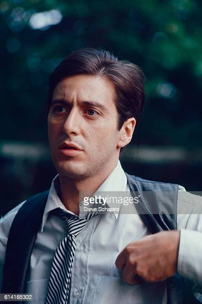 View of American actor Al Pacino in a scene from the film 'The Godfather' 1972