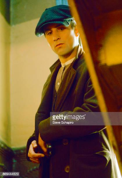 View of American actor Robert De Niro in costume on the set of the film 'The Godfather II' 1974
