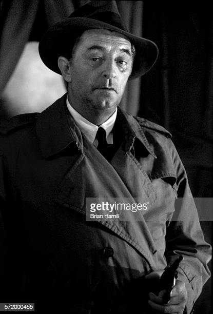 View of American actor Robert Mitchum on the set of the film 'Farewell My Lovely' 1975