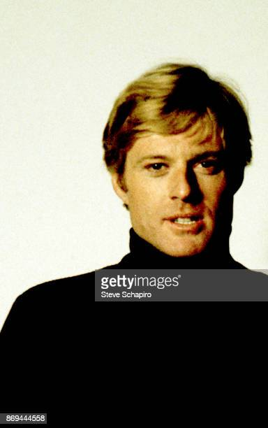 View of American actor Robert Redford in a black turtleneckon the set of the film 'The Way We Were' Los Angeles California 1972